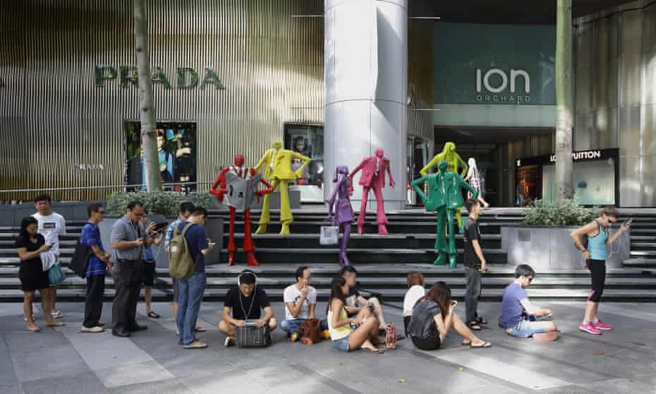 Singapore's huge Prada store on Orchard Street.
