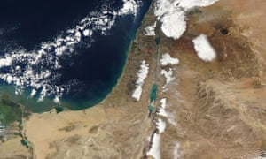 Nasa aerial view of the Middle East