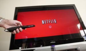 Netflix at work on a Samsung TV.