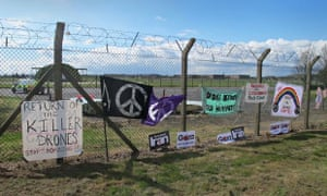 RAF Waddington anti-drone protest