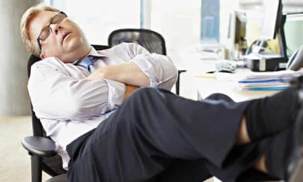 Businessmas at sleep at work