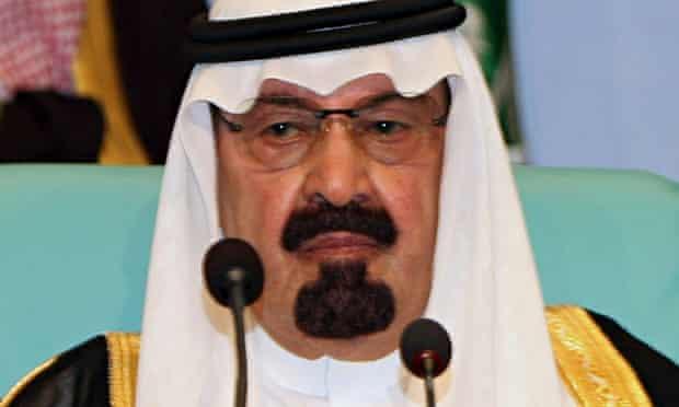 Saudi Arabia's king Abdullah Abdul Aziz