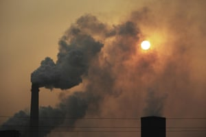 Handan, smoke billows from all directions from the steel plants. Ash fills the skies.