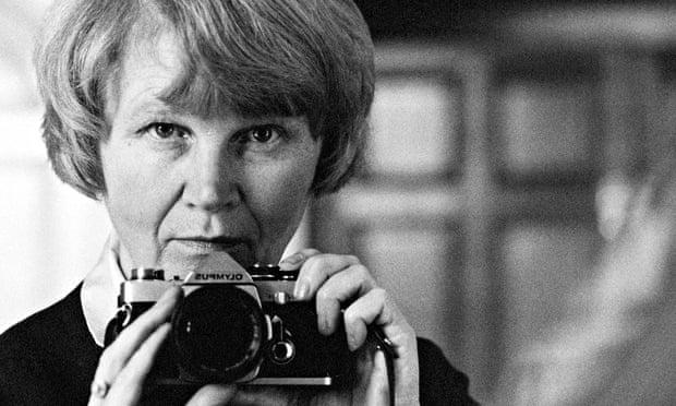 Jane Bown's self-portrait taken in a mirror in the 1980s.