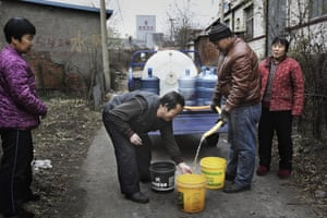 Qian'an Zhonghua Coal Chemical Company has given money for the Ting village council to deliver water to the villagers after their pollution contaminated the groundwater in Songting village. In January 2014, villager Han Xiiulan noticed that the water in his well began to taste sour and it made the food taste bad if it was used in cooking or to water the vegetables. By March, the well water had turned yellow. Later on many of the villagers also found that their well water tasted sour or had become yellow. Nobody dared to use it. After petitioning the village, town, city and then Beijing, the Qian'an Zhonghua agreed to provide clean water.