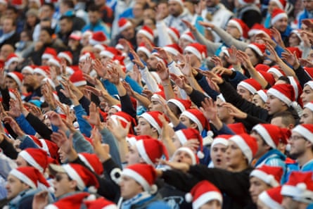 Marseille supporters during the Ligue 1 game against Lille in December.