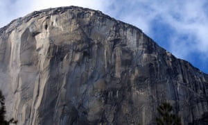 The climbing face of El Capitan in Yosemite national park.