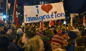 Thousands of people demonstrate against a rally called 'Patriotic Europeans against the Islamization of the West' (PEGIDA) in Cologne, Germany,
