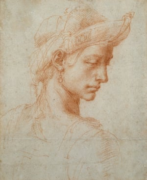 Ideal Head by Michelangelo Buonarroti (1475-1564)