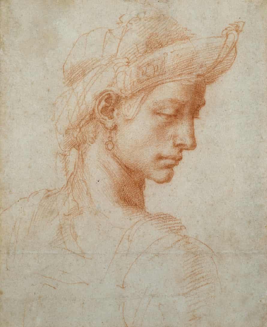 Ideal Head by Michelangelo Buonarroti (1475-1564)