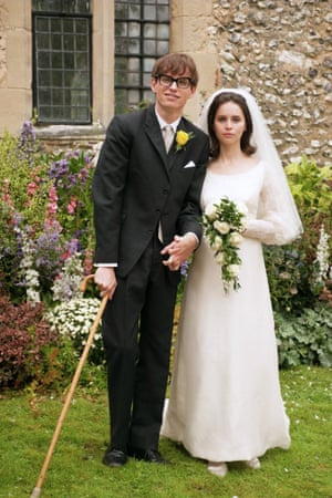 Eddie Redmayne and Felicity Jones play the couple in A Theory of Everything.