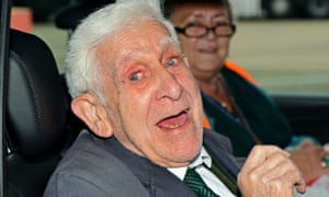 Bernard Jordan returning to Britain after his great escape to attend the 2014 D-day commemorations
