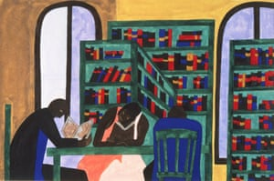 The Libraries Are Appreciated, 1943 by Jacob Lawrence
