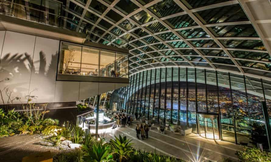 The Walkie-Talkie Sky Garden … 'Not as good as Center Parcs'?