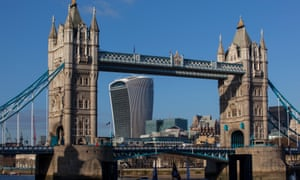 The Walkie-Talkie crashes into view behind Tower Bridge.