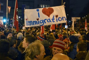 The Pegida march through Cologne was stopped by thousands of people in a counter-demonstration