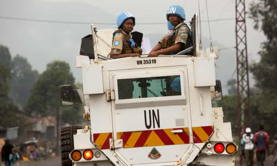 UN soldiers from South African contingent in DRC