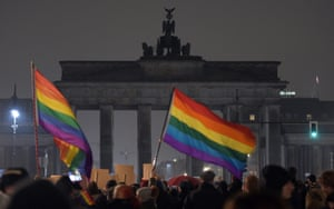 The illumination of the Brandenburg Gate is switched off to make a statement against racism in Berlin