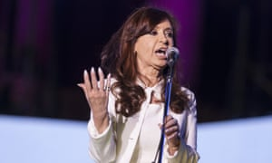 Outgoing president Cristina Fernandez de Kirchner.
