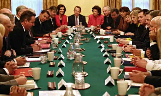 David Cameron leads a cabinet meeting in January 2015