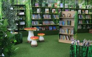 Corwalles junior school library