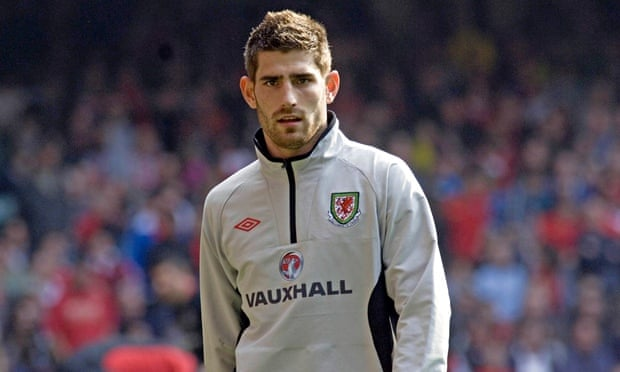 Ched Evans in 2011 at the Millennium Stadium in Cardiff, where he was playing for Wales against Engl