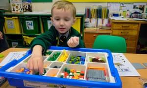 A year 1 Lego maths class at Birchfield.