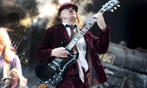 AC/DC's Angus Young plays in 2010.