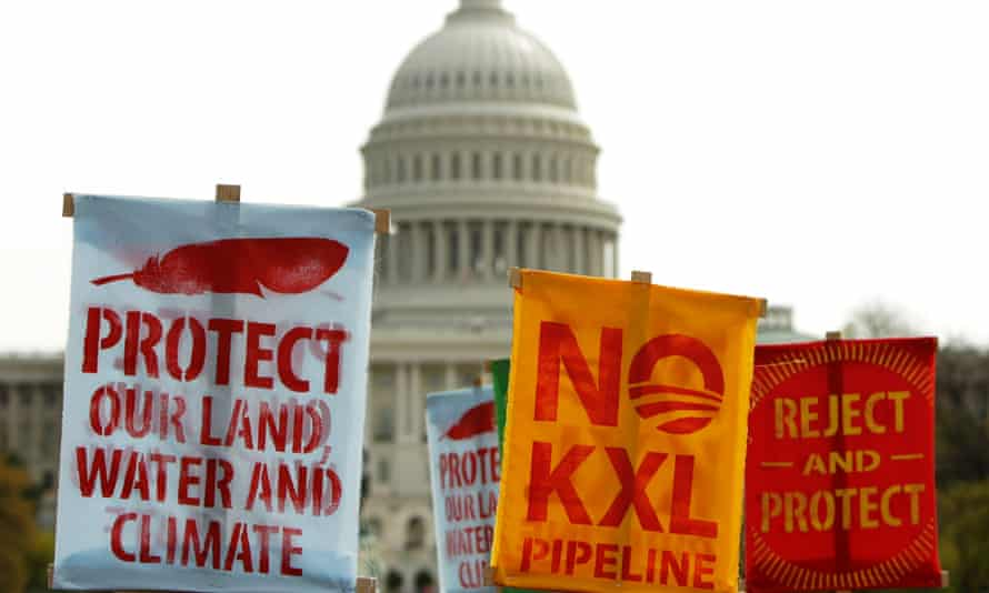 keystone pipeline protest signs