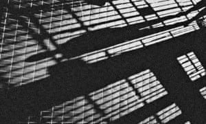 Shadows of prison bars
