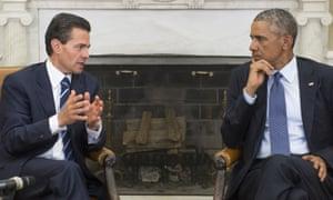 Obama meets Enrique Peña Nieto