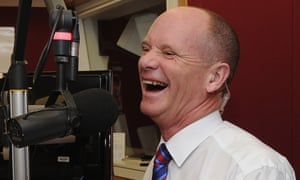 Campbell Newman speaks at a radio station on the Gold Coast