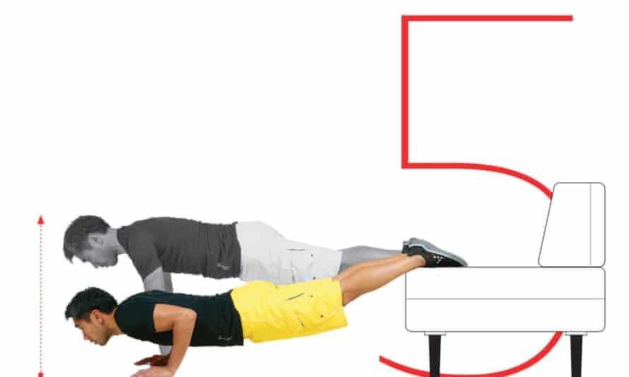 exercise 5 sofa push-up