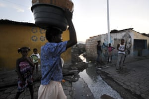 At Cité Soleil in Port-au-Prince only 23% of Haiti's population have access to potable water and sanitation.