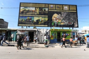Better times are promised for Cité Soleil on a billboard displaying development plans for Wharf Jérémie.