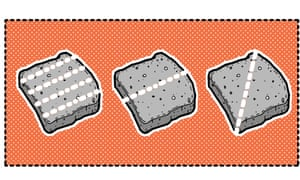 Cut your toast into soldiers, halves or triangles.