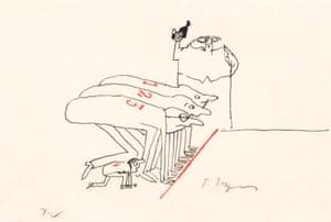 Tomi Ungerer Untitled, 1962 (drawing for Heart Attack (Der Herzinfarkt)