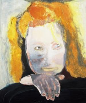 Evil is Banal(1984; self-portrait) Marlene Dumas