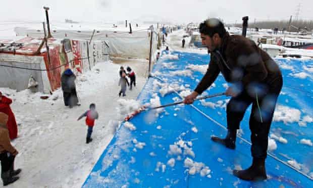 Bekaa valley snow