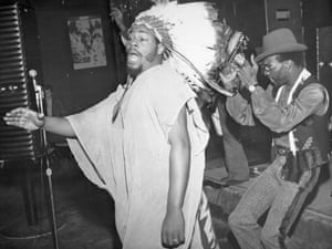 George Clinton on stage with his band, then known as the Parliaments at Ungano's Night Club, New York, in 1969. Long before the Mothership landed, Clinton was already stre