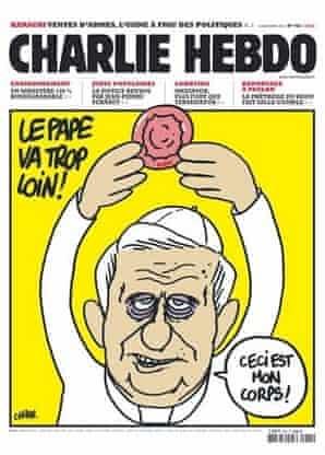 charlie Hebdo's pope cover