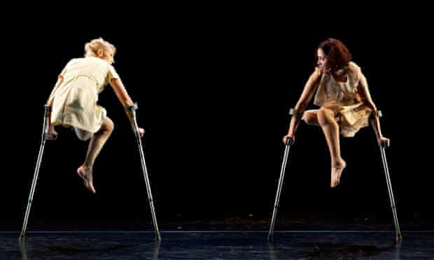 Candoco 12 Claire Cunningham dancers crutches