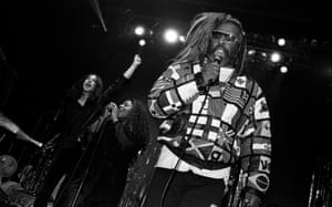 Primal Scream And George Clinton perform on stage at Brixton Academy, Lodnon, 1994