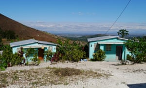 Some of the 34 houses in Village Solidarité that Christian Aid has built. Working with the local mayor, who donated four hectares of land, and the Haitian NGO Garr, Christian Aid has helped relocate around 240 people.