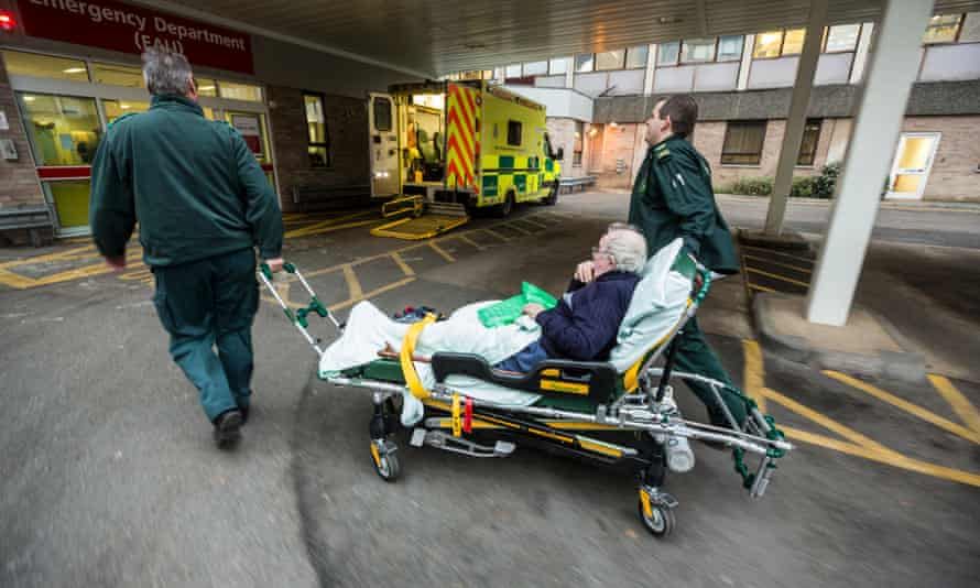Patient Keith Singfield is brought into hospital by ambulance.