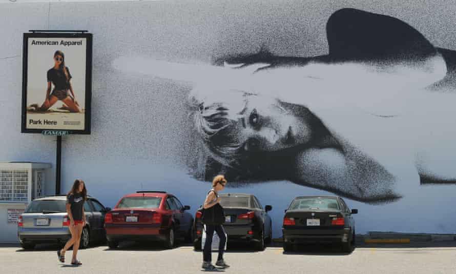 A lewd American Apparel billboard in West Hollywood.
