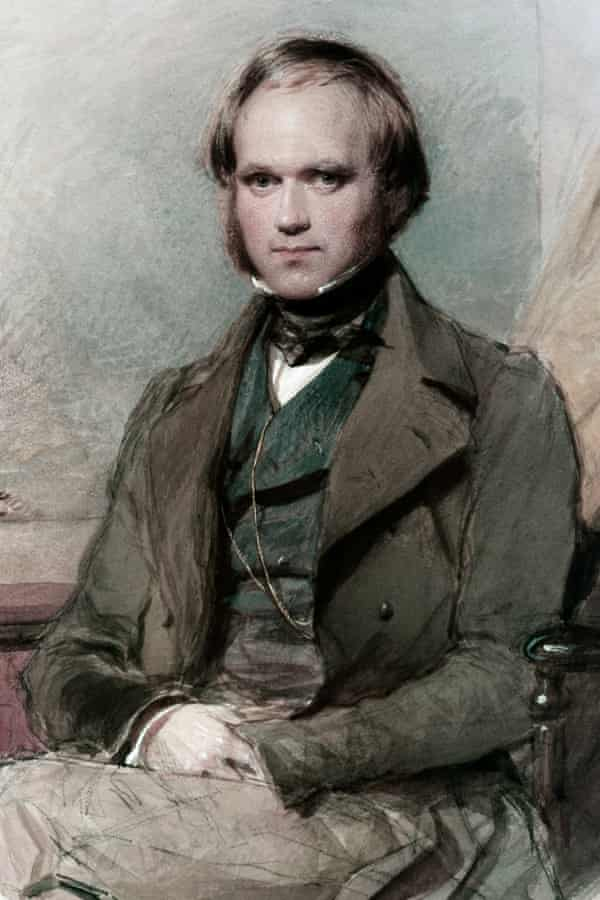 Charles Darwin, in a portrait by George Richmond, from the late-1830s.