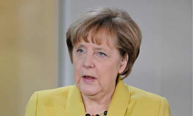 Angela Merkel at an Epiphany service in Berlin