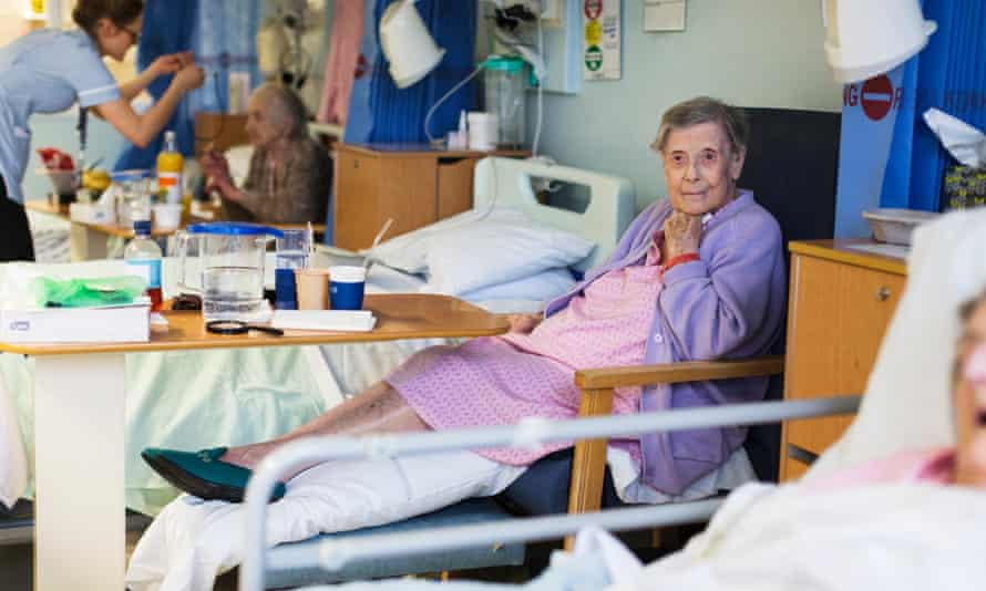 Elizabeth Lee, who has been in Addenbrooke's hospital since September, despite medically being allowed to go home.