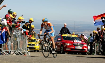 Bradley Wiggins tackles Mount Ventoux during the Tour de France.